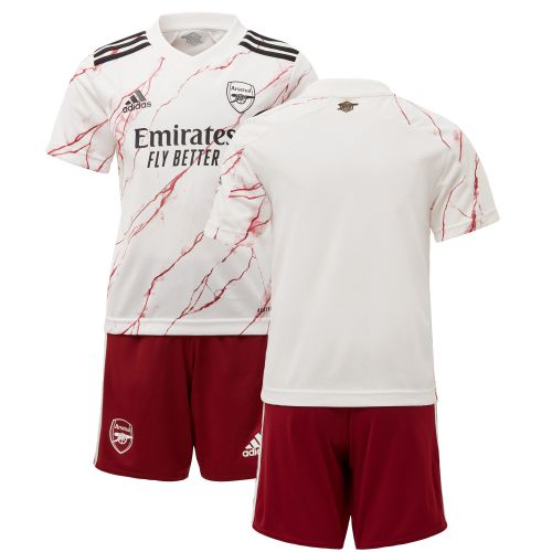 Arsenal Away Mini Kit 2020-21 with Pepe 19 printing