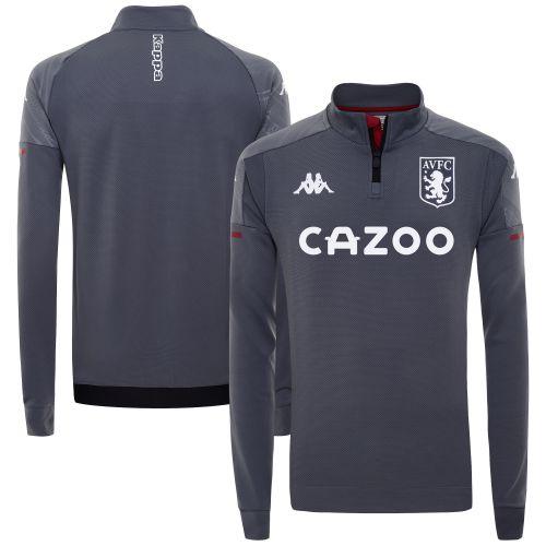Aston Villa Staff Training 1/4 Zip - Grey