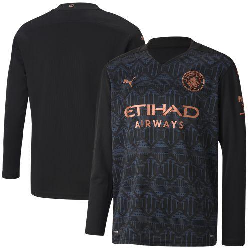 Manchester City Away Shirt 2020-21 - Long Sleeve - Kids with Bernardo 20 printing
