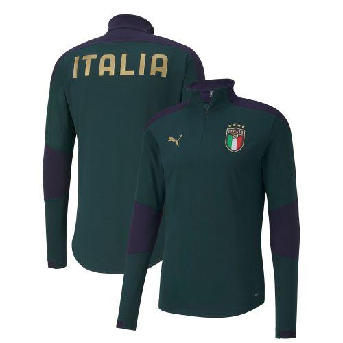 Italy Training 1/4 Zip Top - Green