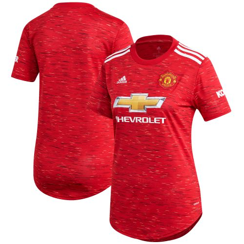 Manchester United Home Shirt 2020-21 - Womens with B.Fernandes 18 printing