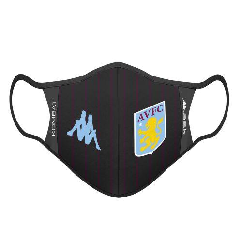 Aston Villa Kappa Face Covering - Black