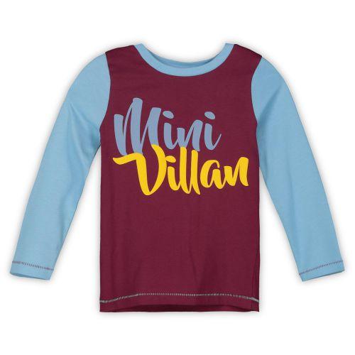 Aston Villa Mini Villan PJ Set - Blue - Girls