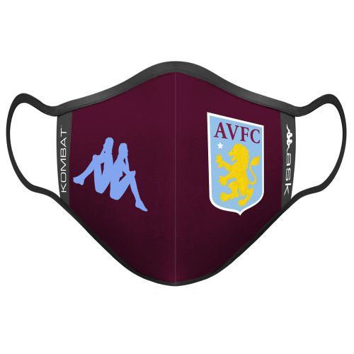 Aston Villa Kappa Face Covering - Claret