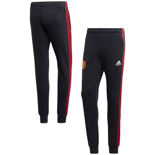 Manchester United 3 Stripe Sweat Pants - Black