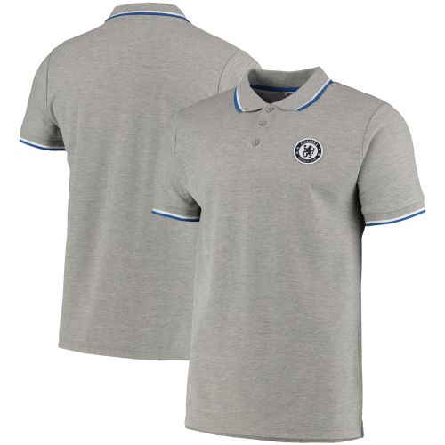 Chelsea Tipped Polo - Grey Marl - Mens