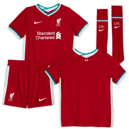 Liverpool Home Stadium Kit - 2020-21 Little Kids with Firmino 9 printing