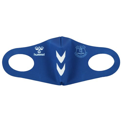 Everton Single Pack Face Covering - Blue - Adult
