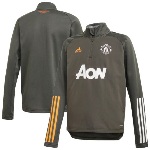 Manchester United Training Warm Up Top - Green - Kids