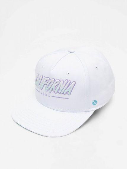 Just Rhyse / Snapback Cap Santa Monica in white