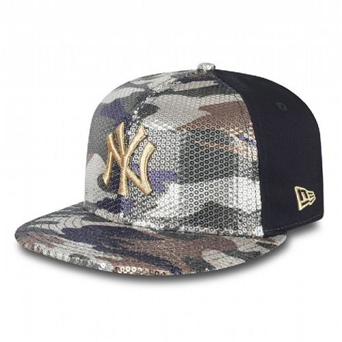 Шапка New Era Sequin Hide NY Yankees Womens 9FIFTY Snapback