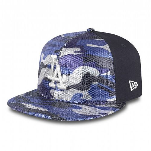 Шапка New Era Sequin Hide LA Dodgers Womens 9FIFTY Snapback
