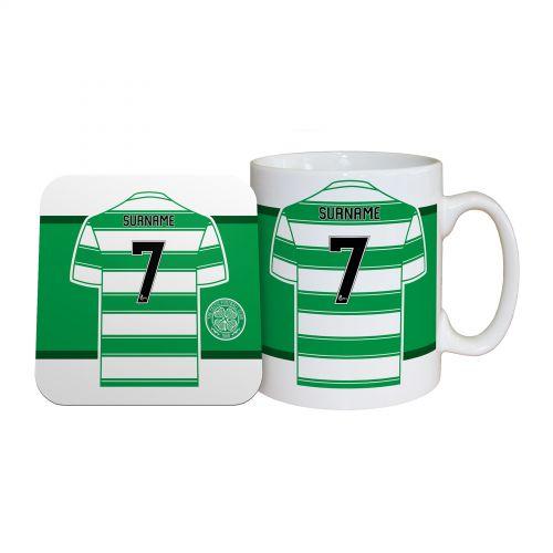 Celtic Personalised Shirt Mug and Coaster Set
