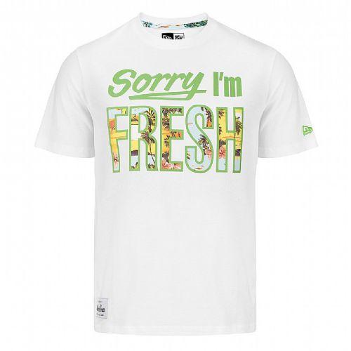 New Era Sorry Im Fresh Tee White
