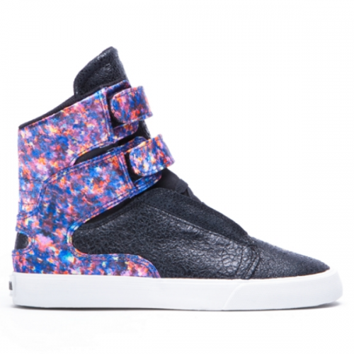 SUPRA WOMENS SOCIETY II BLACK/FLORAL WHITE