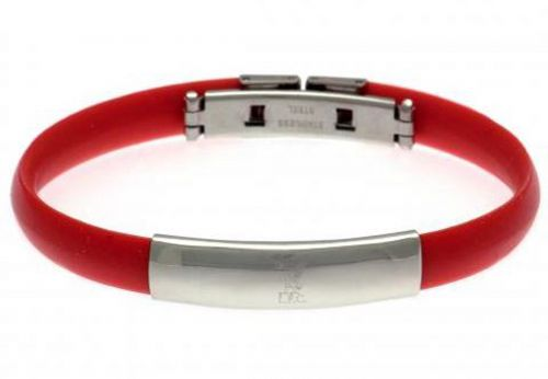 Liverpool Liverbird Rubber Band Bracelet - Stainless Steel