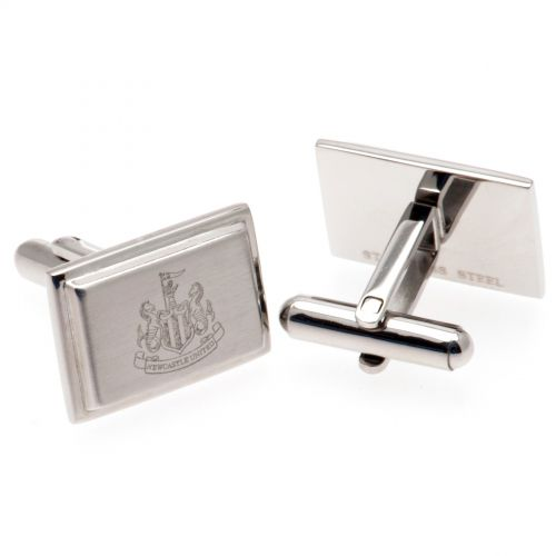 Newcastle United Rectangle Crest Cufflinks - Stainless Steel