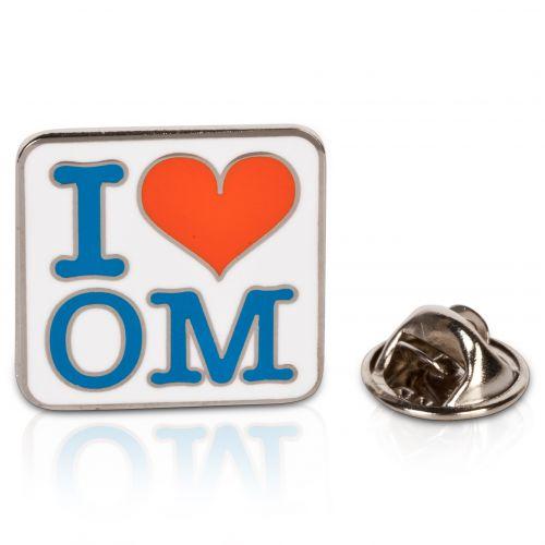 Olympique de Marseille I Love OM Pin Badge