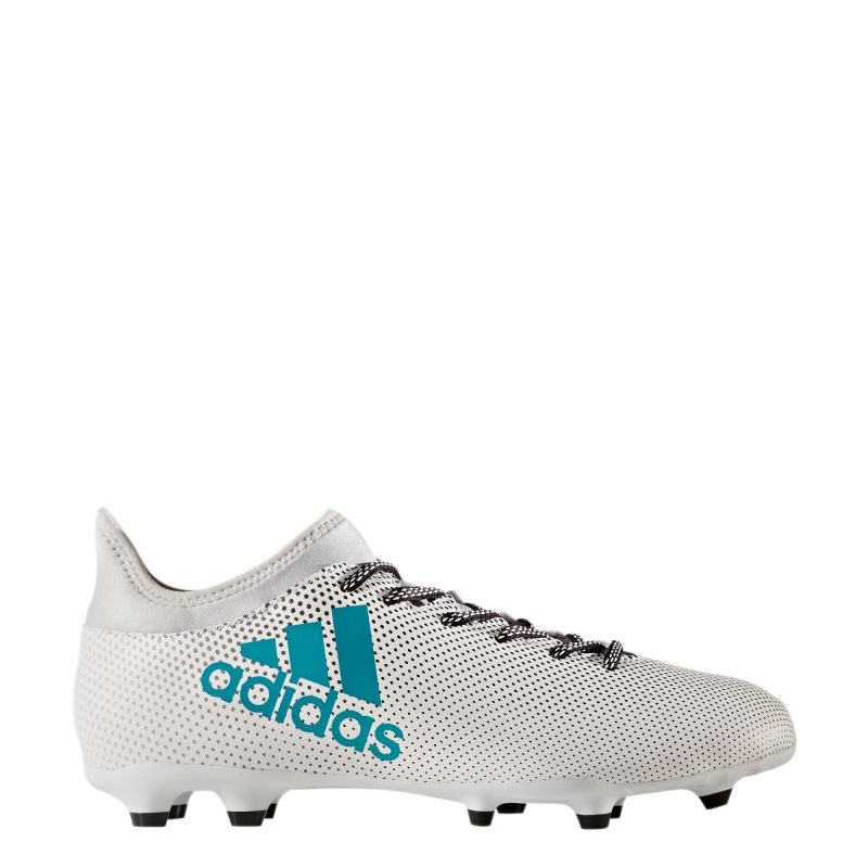 watch b85a2 6ea26 adidas X 17.3 Firm Ground Football Boots - White/Energy Blue/Clear Grey