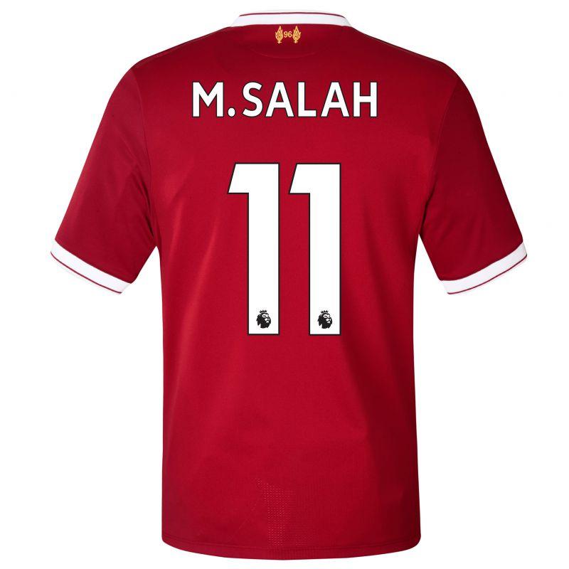 Liverpool Home Shirt 2017-18 With M.Salah 11 Printing