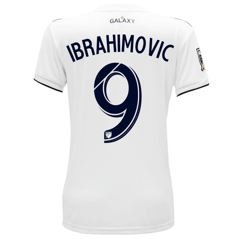 LA Galaxy Home Shirt 2018 - Womens with Ibrahimovic 9 printing ... 272bd8f56