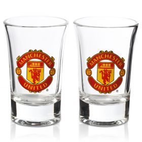 Manchester United Shot Glasses - 2 Pack