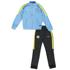 Manchester City Squad Tracksuit - Lt Blue - Kids