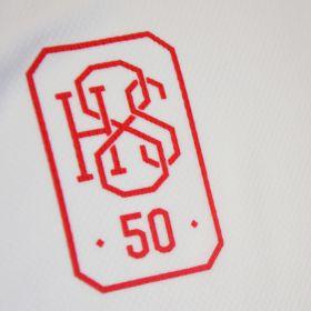 """Юбилейна тениска """"50 години номер 8"""" бял 3XL"""