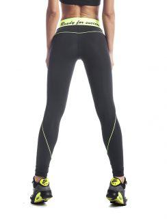 Дамски спортен клин Ex Fit Black Neon
