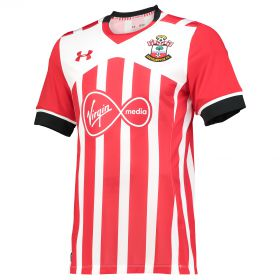 Southampton Home Shirt 2016-17 Red with Shane Long 7 printing