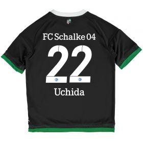 Schalke 04 Third Shirt 2015-17 - Kids Grey with Uchida 22 printing