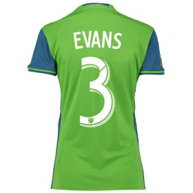 Seattle Sounders Home Shirt 2016 - Womens with Evans 3 printing