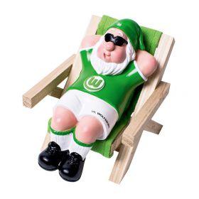 VfL Wolfsburg Mini Gnome in Deckchair