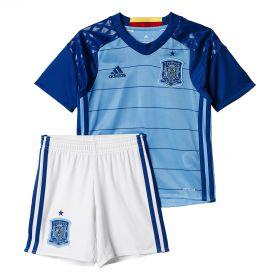 Spain Home Goalkeeper Mini Kit 2016 SMU Lt Blue