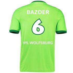 VfL Wolfsburg Home Shirt 2016-17 with Bazoer 6 printing