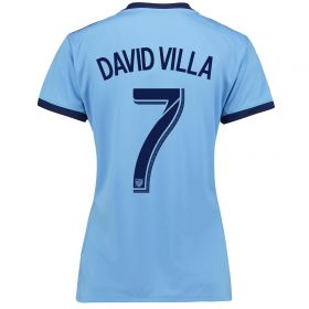 New York City FC Home Shirt 2017-18 - Womens with David Villa 7 printing