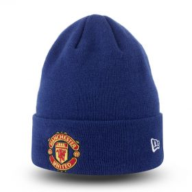 Manchester United New Era Basic Cuff Hat - Royal - Adult
