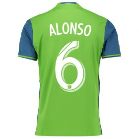 Seattle Sounders Home Shirt 2016 with Alonso 6 printing