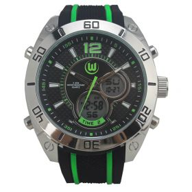 VfL Wolfsburg Analogue-Digital Watch - Black-Green