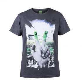 VfL Wolfsburg Stadium Print Graphic T-Shirt - Grey - Boys
