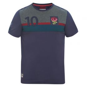 England Rugby Since 1871 Colour Blocked T-Shirt - Graphite