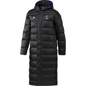 Real Madrid Longer Down Jacket - Black
