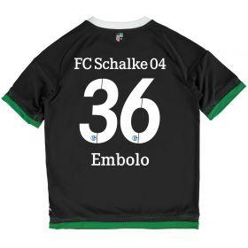 Schalke 04 Third Shirt 2015-17 - Kids Grey with Embolo 36 printing