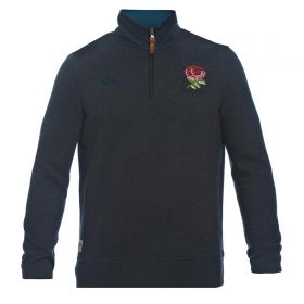 England Rugby Since 1871 1/4 Zip Sweater - Black Marl
