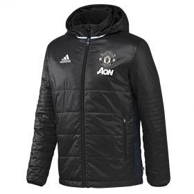 Manchester United Training Padded Jacket - Black