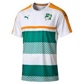 Ivory Coast Training Jersey - White-Green