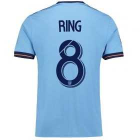 New York City FC Home Shirt 2017-18 with Ring 8 printing