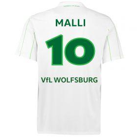 VfL Wolfsburg Away Shirt 2016-17 with Malli 10 printing