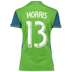 Seattle Sounders Home Shirt 2016 - Womens with Morris 13 printing