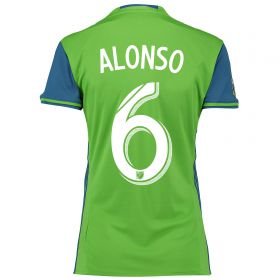 Seattle Sounders Home Shirt 2016 - Womens with Alonso 6 printing